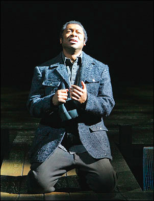Alton Fitzgerald White as Mister in The Color Purple