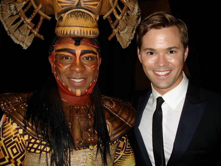 Alton Fitzgerald White with Andrew Rannells