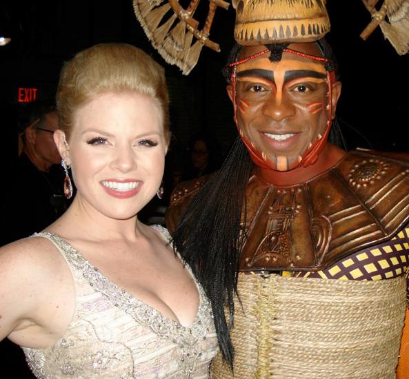 Alton Fitzgerald White with Megan Hilty