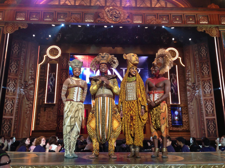 Alton Fitzgerald White and his fellow Lion King cast-mates presenting at the Tony Awards