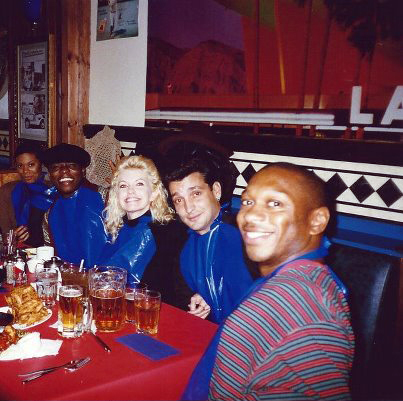 Alton Fitzgerald White out for a Lobster dinner with The Original London Cast of Smokey Joe's Cafe.