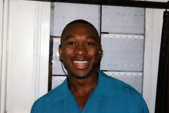 Alton Fitzgerald White at 'places' call in the Broadway production of Smokey Joe's Café
