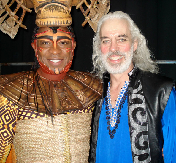 Alton Fitzgerald White with Terrence Mann